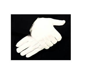 WHITE COTTON GLOVES w/ Gripper Dots